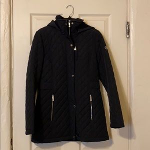 Calvin Klein Hooded Diamond-Quilted Jacket (Small)